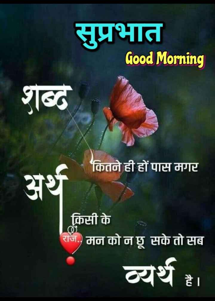 🌞 Good Morning🌞 - सुप्रभात Good Morning शब्द कितने ही हों पास मगर अर्थ | किसी के राज . . मन को न छू सके तो सब व्यर्थ है । - ShareChat