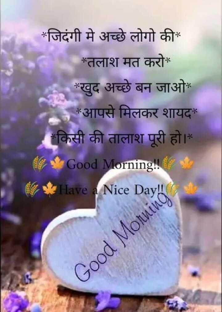 🌞 Good Morning🌞 - * जिदंगी मे अच्छे लोगो की * * तलाश मत करो * खुद अच्छे बन जाओ * * आपसे मिलकर शायद * किसी की तालाश पूरी हो । Good Morning ! * Have a Nice Day ! ! * * Good Morning - ShareChat