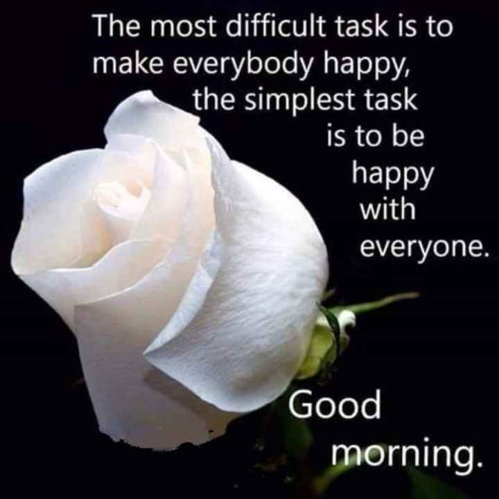 🌞 Good Morning🌞 - a S e S The most difficult task is to make everybody happy , the simplest task is to be happy with everyone . Good morning . - ShareChat