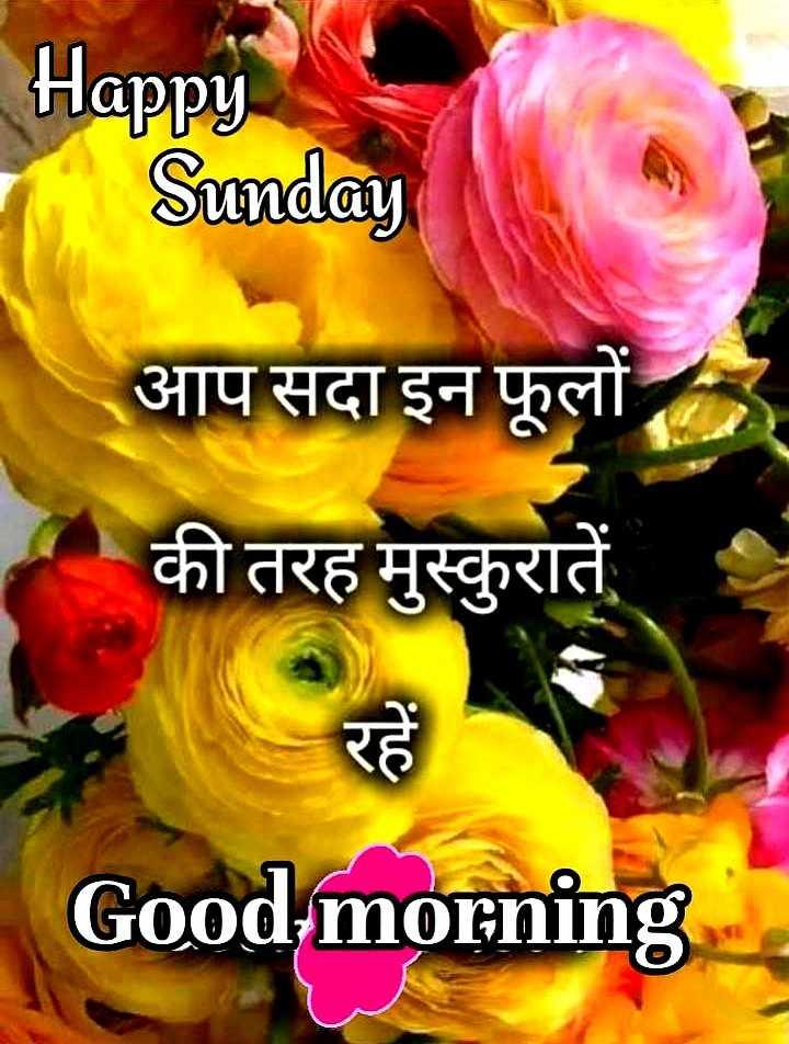 🌞 Good Morning🌞 - Happy Sunday आप सदा आप सदा इन फूलों की तरह मुस्कुरातें Good morning - ShareChat