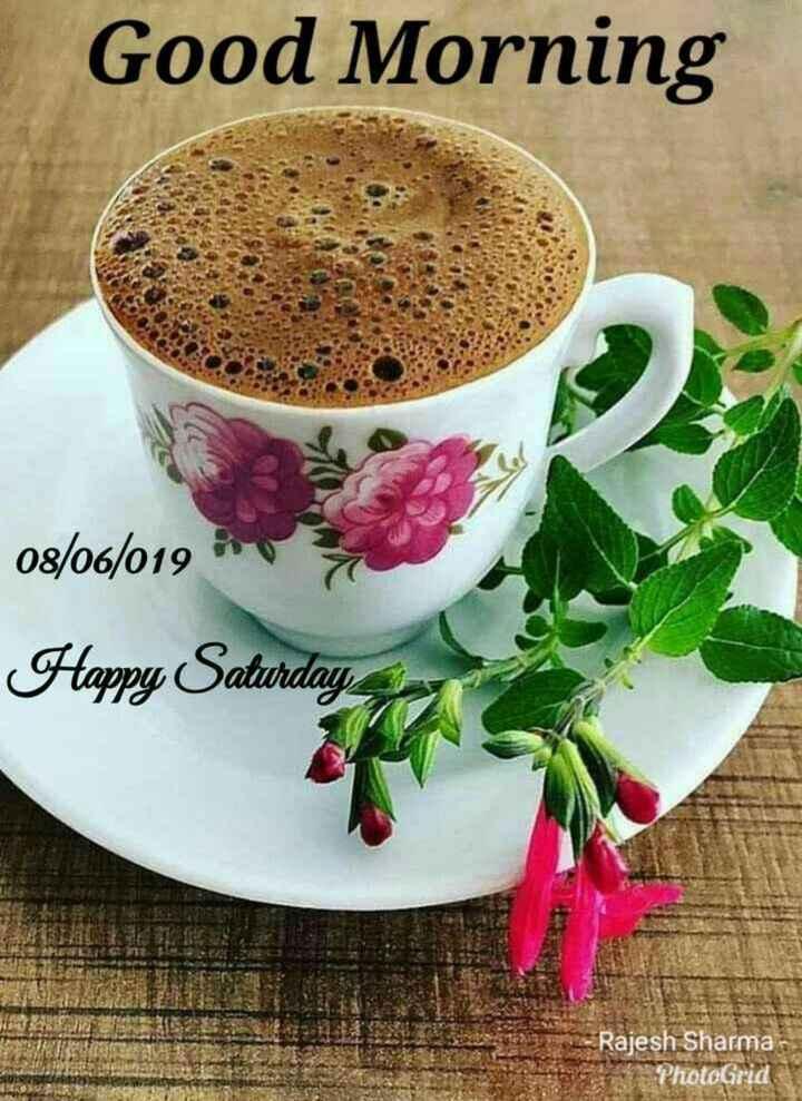 Good morning 🍫 - Good Morning 08 / 06 / 019 Happy Saturday Rajesh Sharma PhotoGrid - ShareChat