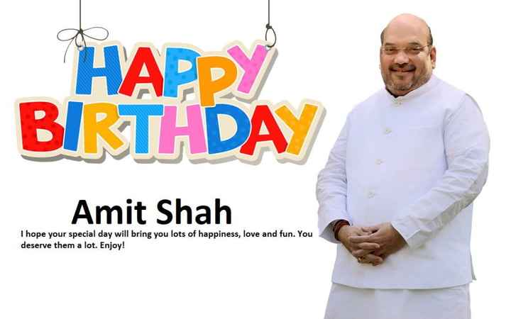 🍫 HBD: અમિત શાહ - HAPPY BIRTHDAY Amit Shah I hope your special day will bring you lots of happiness , love and fun . You deserve them a lot . Enjoy ! - ShareChat