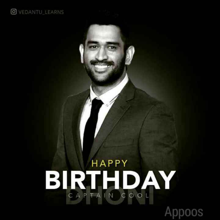 Happy Birthday Dhoni - OVEDANTU _ LEARNS HAPPY BIRTHDAY CAPTAIN COOL Appoos - ShareChat