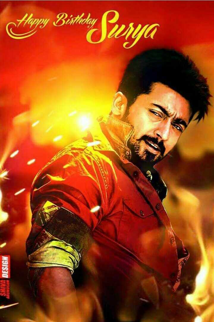Happy Birthday Suriya - The Bishti Surya SHIVA DESIGN SABROGAN - ShareChat