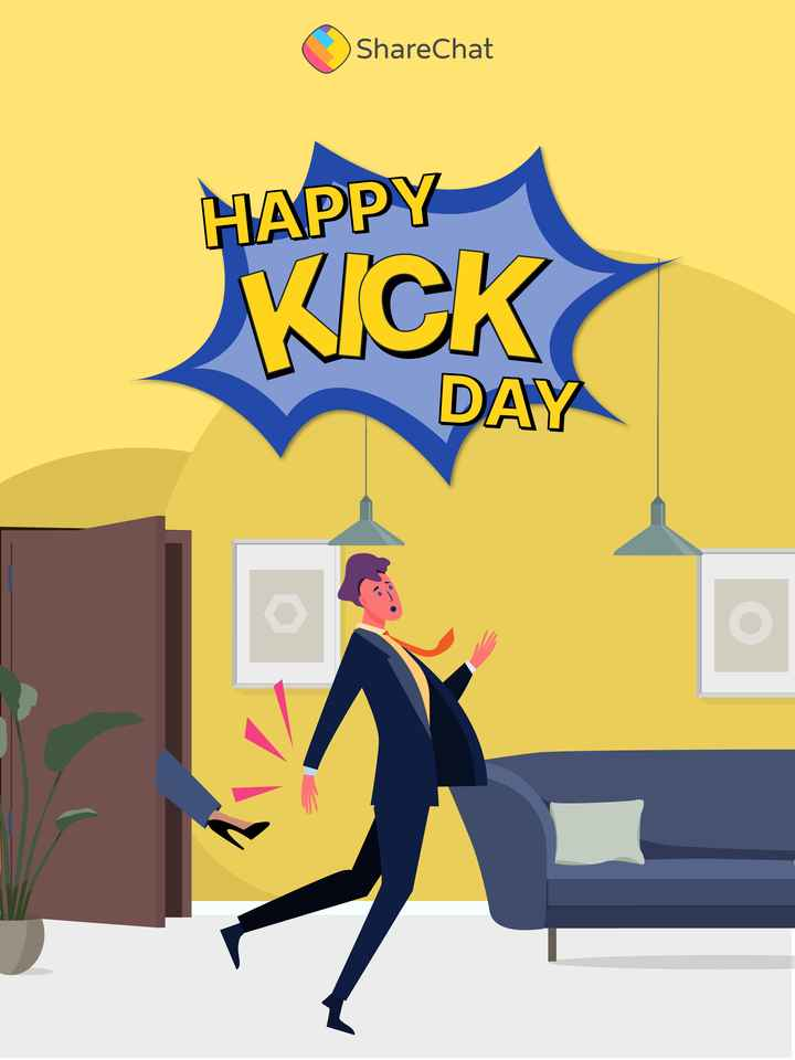 😜 Happy Kick Day - ShareChat HAPPY WICK DAY - ShareChat