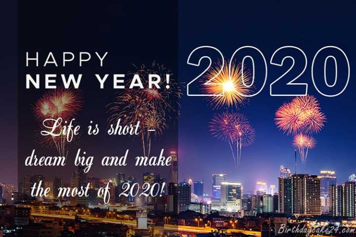 🎉 Happy New Year 2020 😍 - HAWYEAR : 2020 HAPPY NEW YEAR ! Life is short - dream big and make the most of 2020 ! birthday K dance - ShareChat