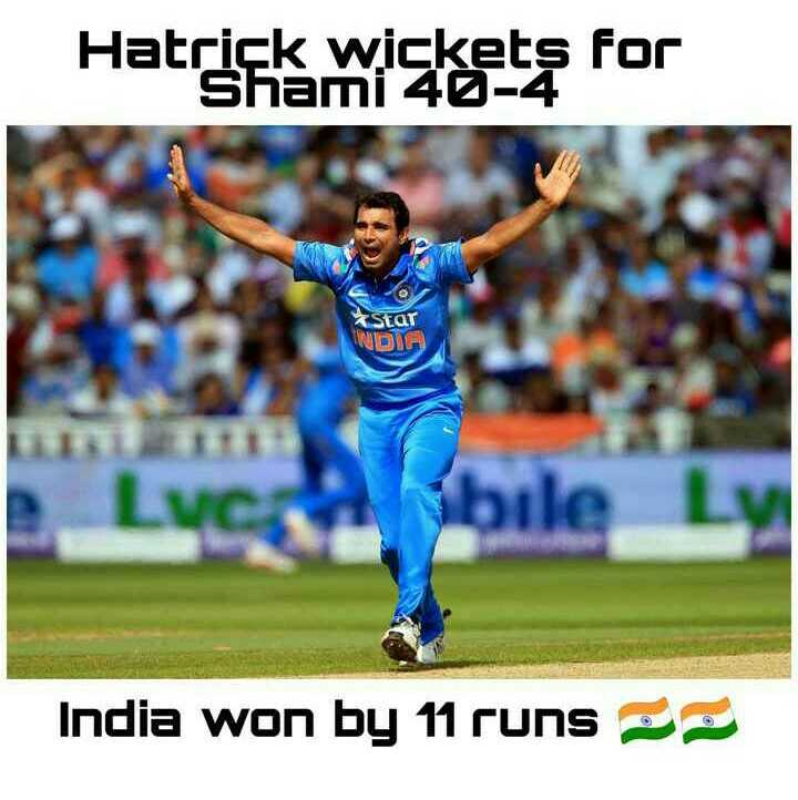 🏏 IND vs AFG - Hatrick wisket for Star NDIA India won by 11 runs - ShareChat