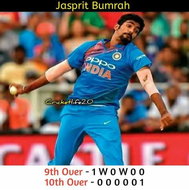 🇮🇳IND vs AUS 2nd ODI🏏 - Jasprit Bumrah Oppo WDIA Cricketlife2 . 0 9th Ouer - 1 WOWOO 10th Over - 000001 - ShareChat