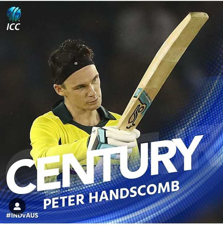 🏏 IND vs AUS 4th ODI - ICC TB CENTURY PETER HANDSCOMB # INDVAUS - ShareChat