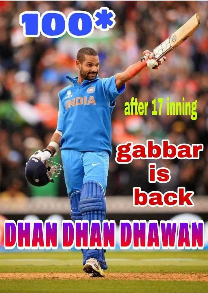 🇮🇳IND vs AUS 4th ODI🏏 - 1003 PADIA after 17 inning gabbar FIS back DHAN DHAN DHAWAN - ShareChat