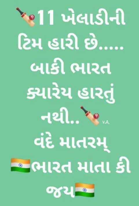 🏏 IND vs NZ T20 - 11 ખેલાડીની ટિમ હારી છે . ... . . બાકી ભારત ક્યારેય હારતું નથી . . . . વંદે માતરમ્ - ભારત માતા કી - ShareChat