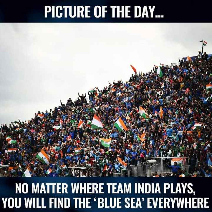 🏏IND vs PAK - PICTURE OF THE DAY . . . NO MATTER WHERE TEAM INDIA PLAYS . YOU WILL FIND THE ' BLUE SEA ' EVERYWHERE - ShareChat