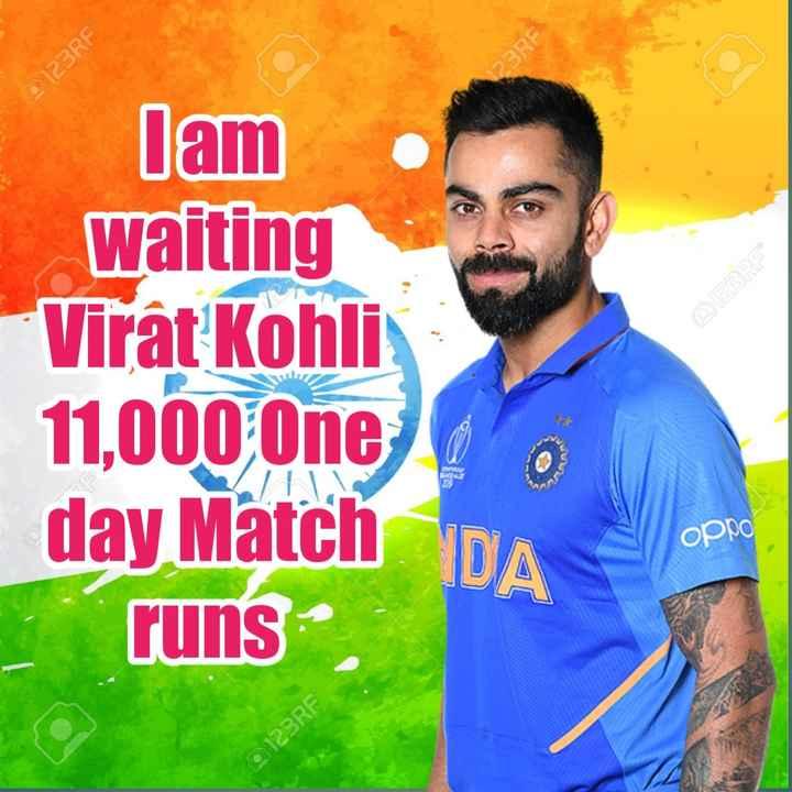 🏏IND vs PAK live Score🔴 - 123RF PORE lam E DECOR waiting Virat Kohli 11 , 000 One day Match runs . орро © 123RF - ShareChat