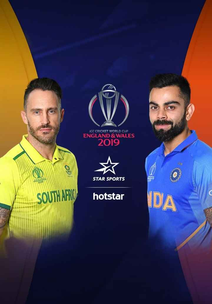 🏏 IND vs SA - ICC CRICKET WORLD CUP ENGLAND & WALES 2019 STAR SPORTS ENGLAND WAT 019 in SOUTH AFRO hotstar DA - ShareChat