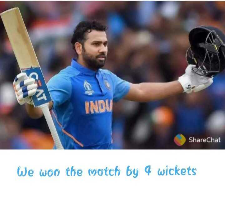 🏏 IND 🇮🇳 vs WI 🔴 1st T20 - INOV ShareChat We won the match by 4 wickets - ShareChat