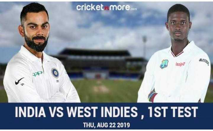 🏏 IND 🇮🇳 vs WI 🔴 1st Test - cricket more . com SIMO 221080 PE > INDIA VS WEST INDIES , 1ST TEST THU , AUG 22 2019 - ShareChat