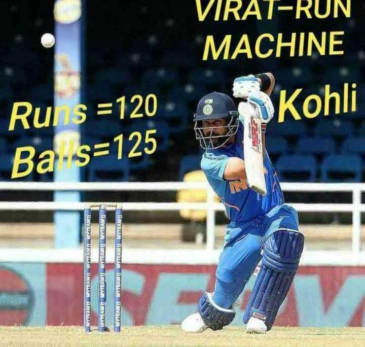 IND vs WI 3rd ODI - VIRAT - RUN MACHINE Rul s = 120 Kohli Ba - s = 125 MYTEAM TEAMS UNIT AYAW TEAM TEAMTL . MYTEAM - ShareChat
