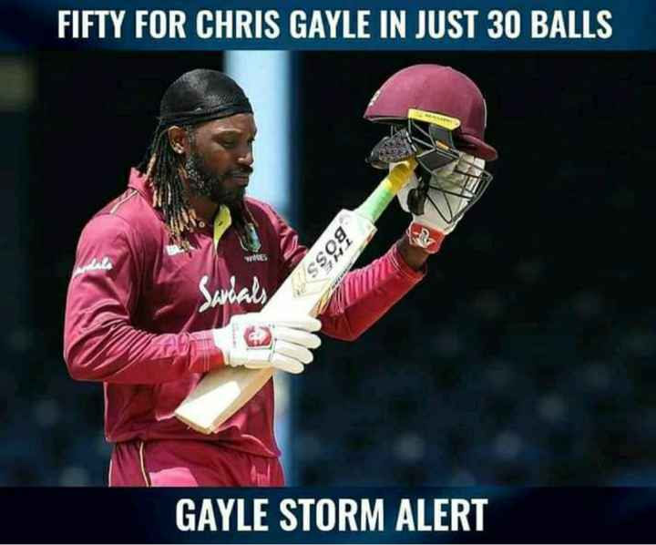 🏏 IND 🇮🇳 vs WI 🔴 3rd ODI - FIFTY FOR CHRIS GAYLE IN JUST 30 BALLS BOSS GAYLE STORM ALERT - ShareChat
