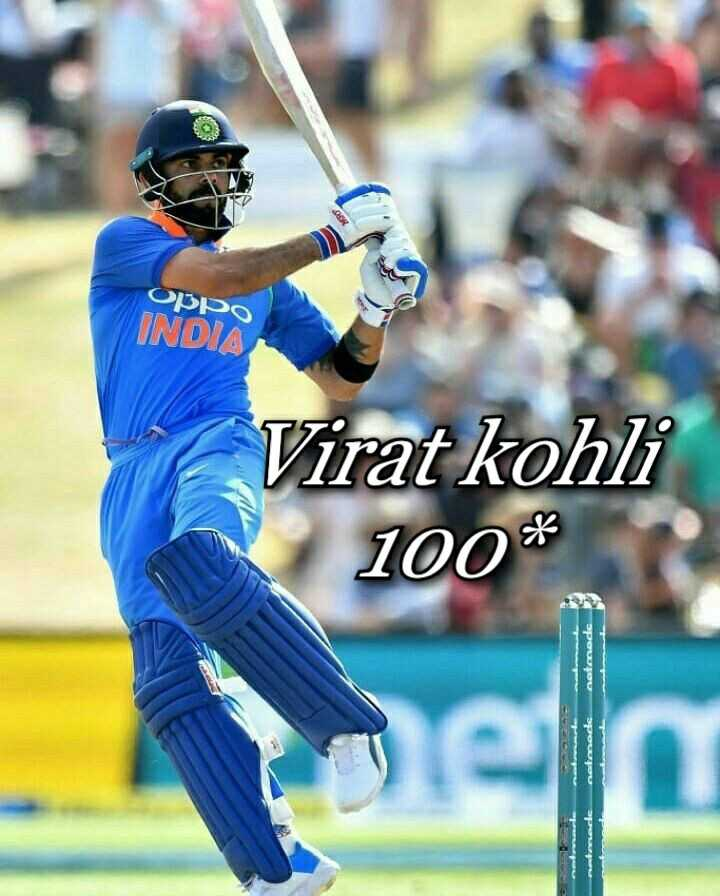 🏏 IND 🇮🇳 vs WI 🔴 3rd ODI - OPPO INDIA Virat kohli 100 * natanede de - ShareChat