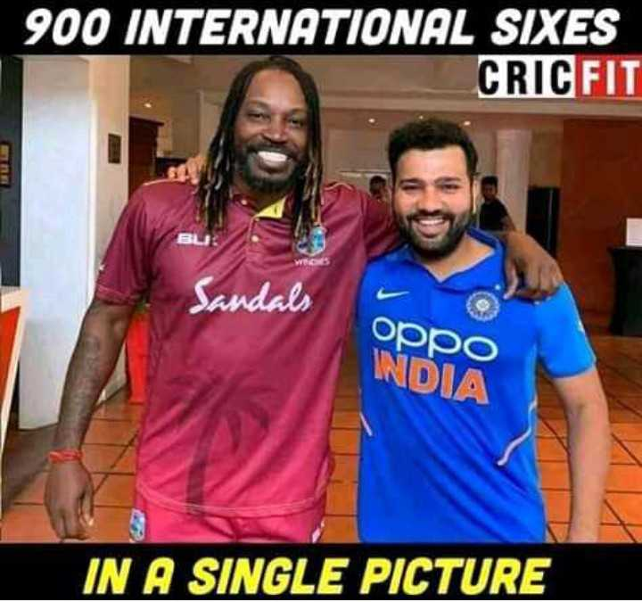 🏏IND vs WI - 900 INTERNATIONAL SIXES CRICFIT Sandals oppo INDIA IN A SINGLE PICTURE - ShareChat