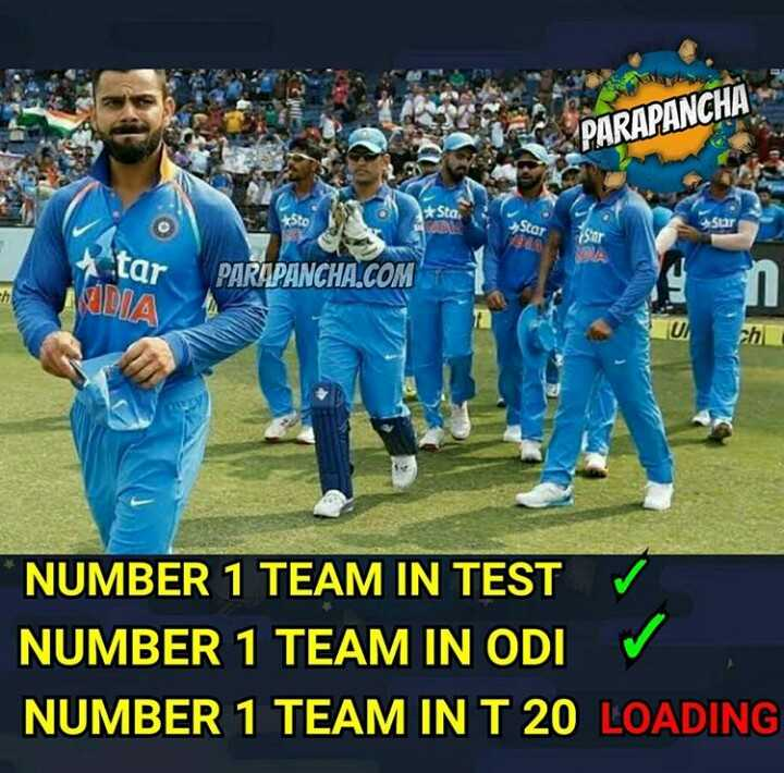 🏏 IND vs WI - PARAPANCHA Sto Star U Star PAR PANCHA . COM AUDIA ch * NUMBER 1 TEAM IN TEST NUMBER 1 TEAM IN ODI NUMBER 1 TEAM IN T 20 LOADING - ShareChat
