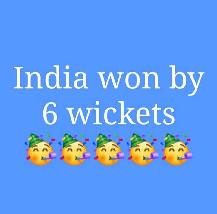 🏏 IND vs WI - India won by 6 wickets na na - ShareChat