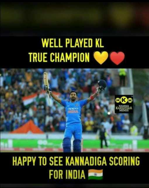 🏏 IND vs WI - WELL PLAYED KL TRUE CHAMPION KM HAPPY TO SEE KANNADIGA SCORING FOR INDIA - ShareChat
