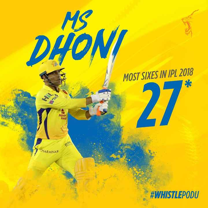 IPL 2019 - MS DHONI MOST SIXES IN IPL 2018 he Mihol troup CHARMINAR # WHISTLEPODU - ShareChat