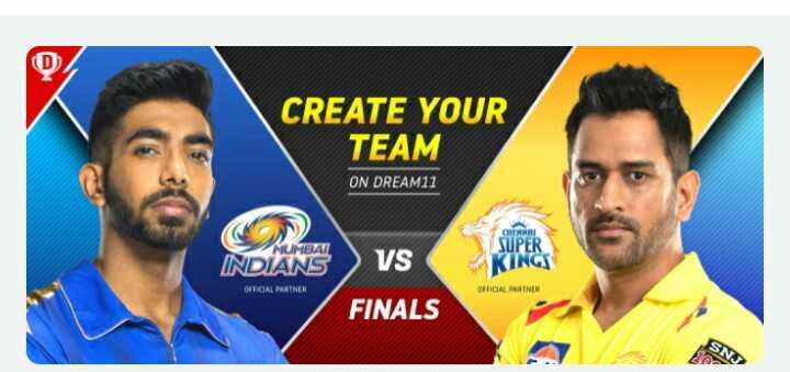 🏆 IPL Final: MI 🔵 vs CSK 🌕 - CREATE YOUR TEAM ON DREAM11 CHENNA MUMBAI INDIANS VS SUPER KINGS OFFICIAL PARTNER OFFICIAL PARTNER FINALS - ShareChat