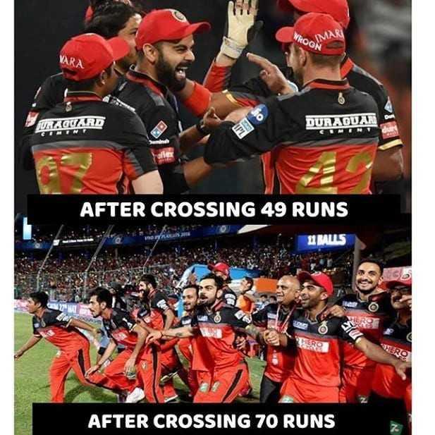 IPL Memes - WOGN OMAR URZGUARD DURADUAR AFTER CROSSING 49 RUNS 11 BALLS TERS AFTER CROSSING 70 RUNS - ShareChat