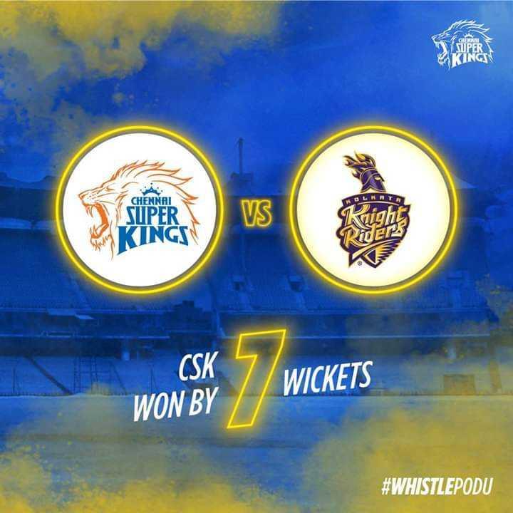 IPL Star : चेन्नई सुपर किंग्स - SUPER KINGS OLKATA CHENNAI VIIPER KINGS S CSK WICKETS WON BY # WHISTLEPODU - ShareChat