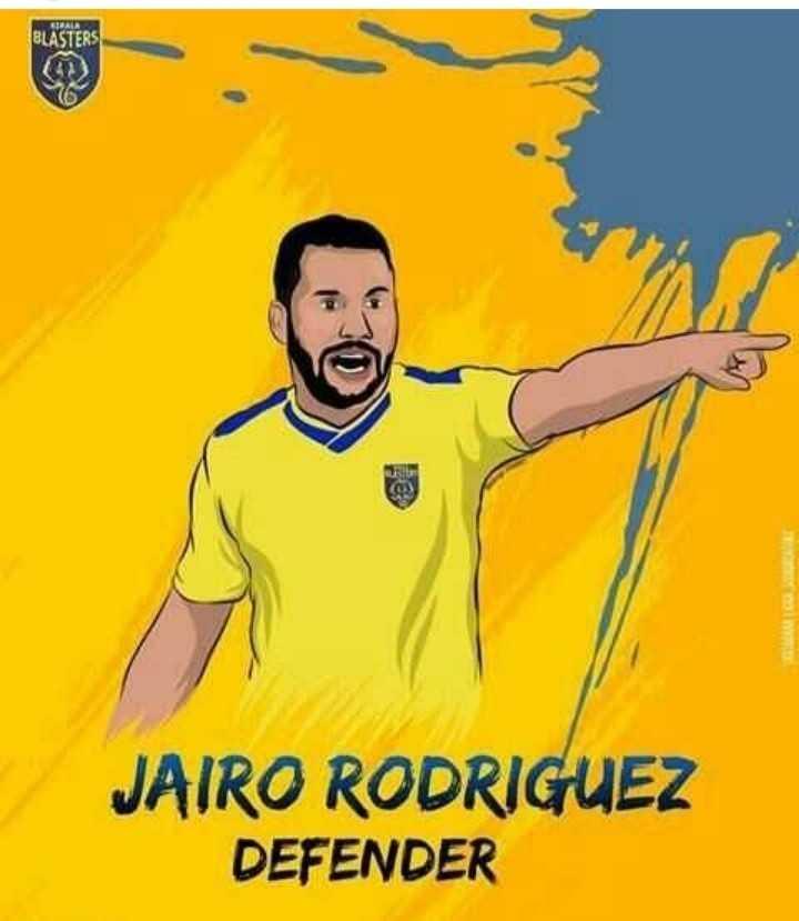 ⚽ ISL താരങ്ങള് - BLASTERS JAIRO RODRIGUEZ DEFENDER - ShareChat