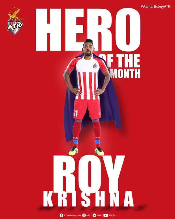 ISL⚽️ - # AamarBukeyATK ATKo * HERO PF THE MONTH BOYA KRISHNA AT Football Club ate at D ATKFC - ShareChat
