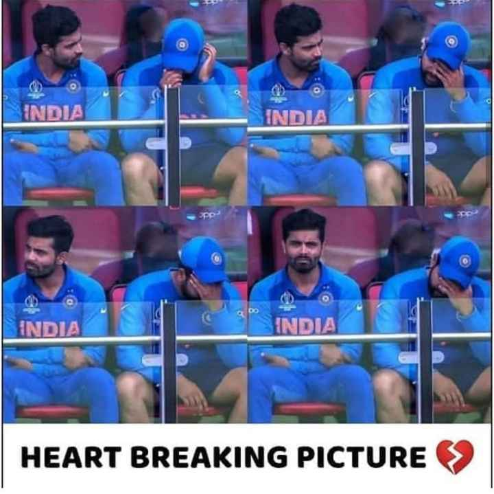 🏏 India vs New Zealand: સેમી ફાઇનલ - INDIA INDI BO INDIA INDIA HEART BREAKING PICTURE - ShareChat