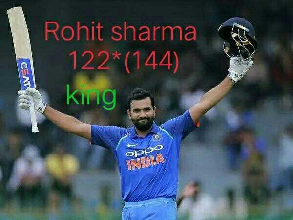 🏏India vs South Africa🏏 - Rohit sharma 122 * ( 144 ) king , סטטוס INDIA - ShareChat