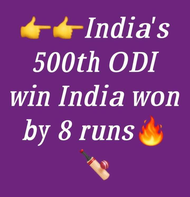 Ind vs Aus 2nd ODI - India ' s 500th ODI win India won by 8 runs - ShareChat