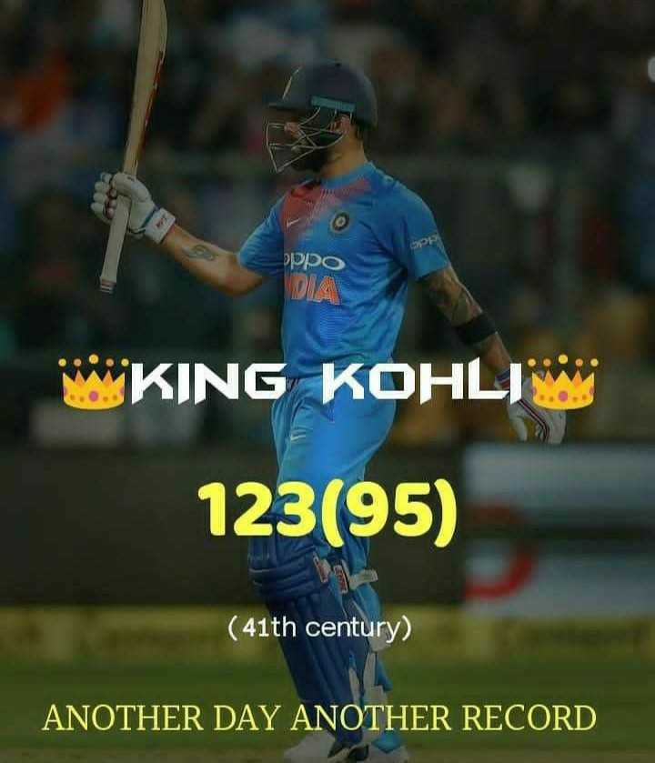 🏏Ind vs Aus 3rd ODI - oppo DIA KING KOHLI 123 ( 95 ) ( 41th century ) ANOTHER DAY ANOTHER RECORD - ShareChat