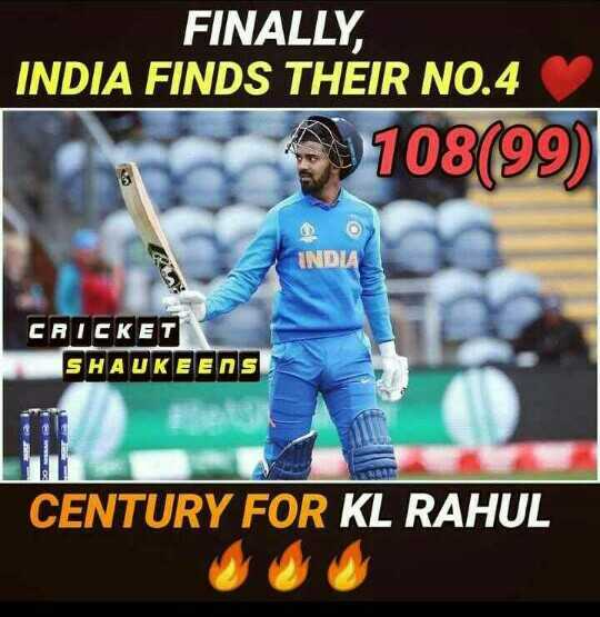 🏏Ind vs Ban वॉर्मअप मॅच - FINALLY , INDIA FINDS THEIR NO . 4 108 ( 99 ) IND CRICKET SHAUKEENS CENTURY FOR KL RAHUL - ShareChat