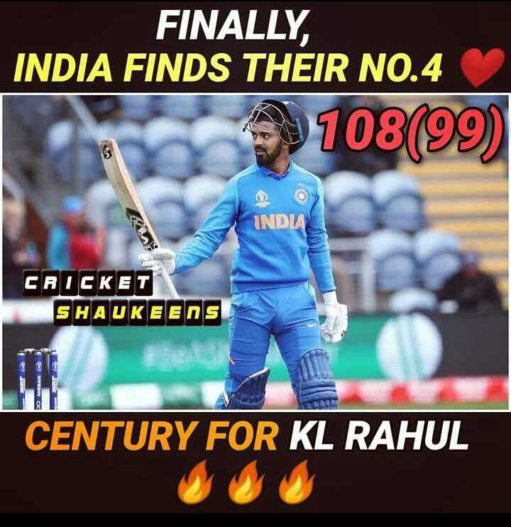 🏏Ind vs Ban वॉर्मअप मॅच - FINALLY , INDIA FINDS THEIR NO . 4 9108 ( 99 ) INDIA CRICKET SHAUKEENS CENTURY FOR KL RAHUL - ShareChat