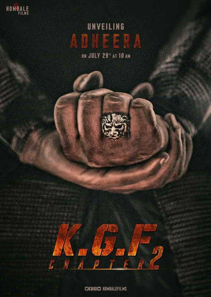 KGF Chapter2 - HOMBALE FILMS UNVEILING ADHEERA ON JULY 29 AT 10 AM 0900 HOMBALEFILMS - ShareChat