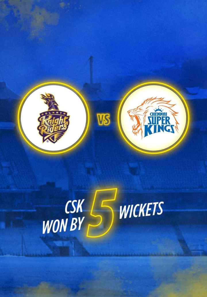 💜 KKR vs CSK 💛 - KOL CHENNAI SUPER KINGS PAS CSK WICKETS WON BY - ShareChat