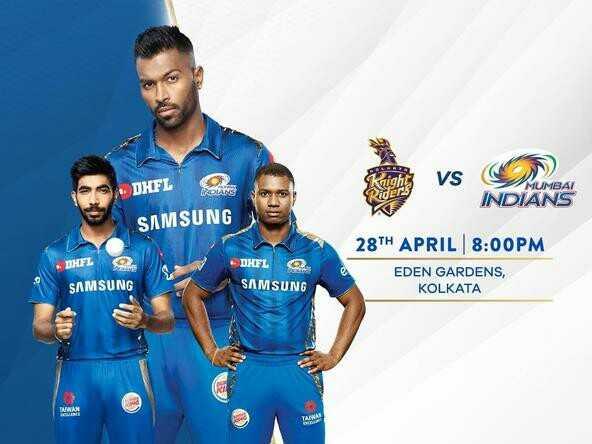 KKR vs MI - VS + DHFL MUMBAI INDIANS SAMSUNG 28TH APRIL 8 : 00PM DHL DHEL SAMSUNG SAMSUNG EDEN GARDENS , KOLKATA - ShareChat