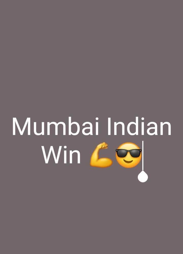 🏏KKR vs MI - Mumbai Indian Win Core - ShareChat