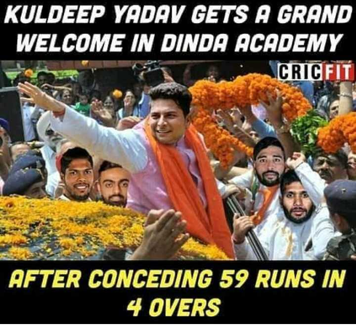 KKR vs RCB - KULDEEP YADAV GETS A GRAND WELCOME IN DINDA ACADEMY CRICFIT AFTER CONCEDING 59 RUNS IN 4 OVERS - ShareChat