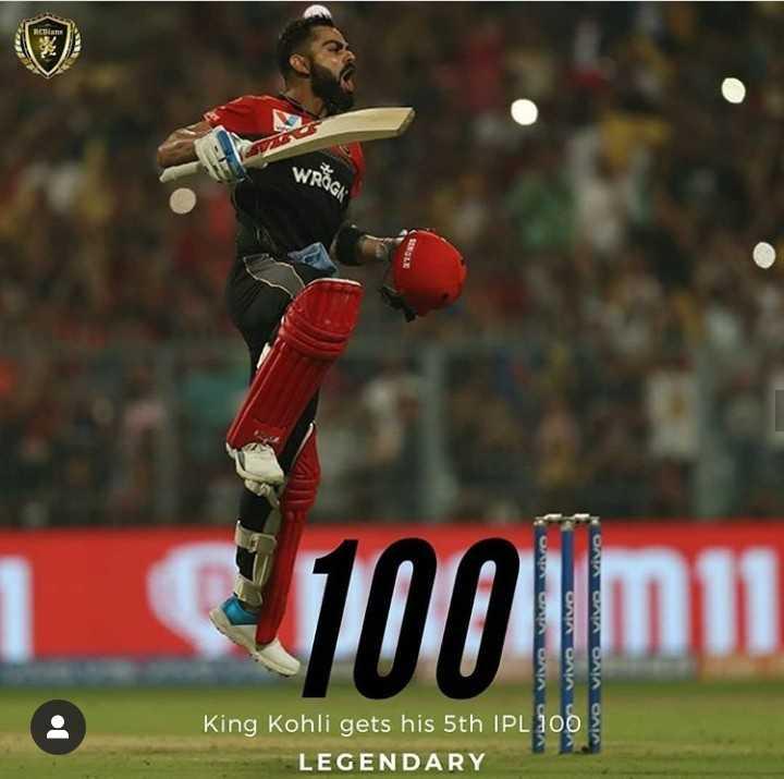 🏏KKR vs RCB - BOG C1001011 VID VSD King Kohli gets his 5th IPL 100 LEGENDARY - ShareChat