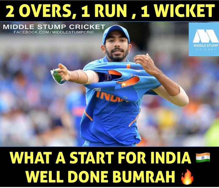 🔴Live Score IND vs NZ - 2 OVERS , 1 RUN , 1 WICKET MIDDLE STUMP CRICKET FACEBOOK . COM / MIDDLESTUMPCRIC MIDDLE STUMP CRICKET WHAT A START FOR INDIA O WELL DONE BUMRAH - ShareChat