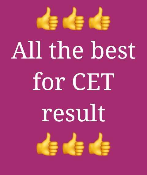 🗞MHT CET 2019 निकाल - All the best for CET result - ShareChat