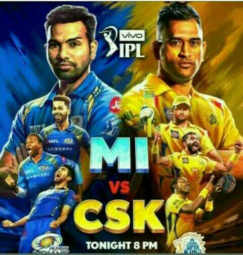 🔵 MI vs CSK 💛: 3 એપ્રિલ - vivo > IPL Le SAMSUN MI CSK TONIGHT 8 PM - ShareChat