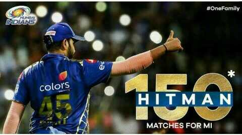 🏏MI vs KKR - # OneFamily INDIANS colors HITMAN MATCHES FOR MI - ShareChat