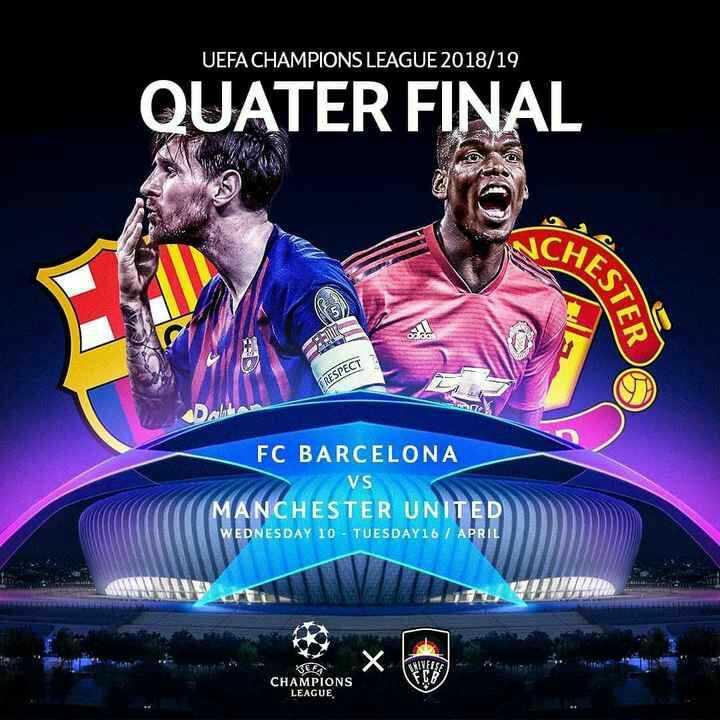 🏏 MI 🔵 vs KXIP 💗 - UEFA CHAMPIONS LEAGUE 2018 / 19 QUATER FINAL KESTER FRESPECT FC BARCELONA VS MANCHESTER UNITED WEDNESDAY 10 - TUESDAY16 / APRIL MILIE CHAMPIONS LEAGUE CHAMPIONS X - ShareChat